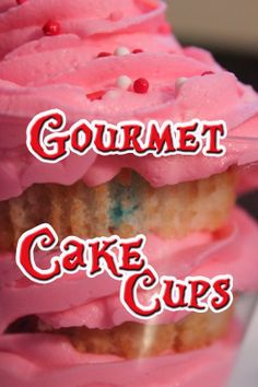 Disney Recipes: Gourmet Cake Cups from Chesire Cafe (Magic Kingdom)  www.TheDisneyDiner.com