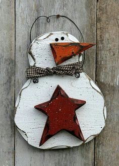 Your place to buy and sell all things handmade Wood Snowman, Primitive Snowmen, Snowman Crafts, Primitive Christmas, Christmas Snowman, Rustic Christmas, Christmas Ornaments, Primitive Decor, Christmas 2014