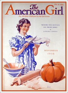 The American Girl Magazine Nov. 1936.  Another magazine to look at, at the public library.