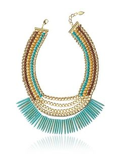 65% OFF Sara Designs Italian Leather & Colored Turquoise Necklace