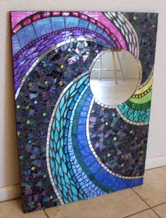 spoiledrockin   Large and Colorful Handmade Glass Mosaic Mirrors
