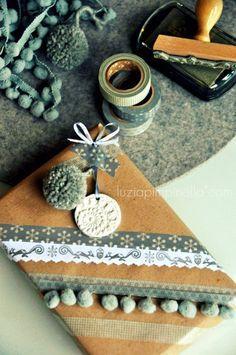 Paquet cadeau de Noël avec du masking tape / Christmas wrapping - washi tape