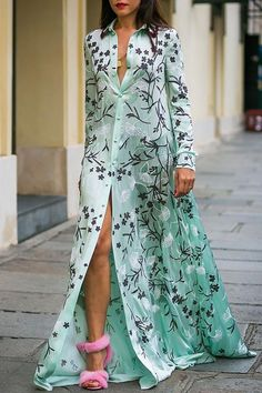 Sexy Floral Print Long Sleeves floral maxi dress maxi dress formal maxi dress summer maxi dress casual maxi dress for wedding guest boho maxi dress floral maxi dress Long Sleeve Maxi, Long Sleeve Shirt Dress, Maxi Dress With Sleeves, Floral Maxi Dress, The Dress, Dress Lace, Outfits Dress, Fashion Dresses, Formal Outfits
