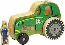 American made tractor toy. Eco-friendly hard wood. www.playitsafetoys.com