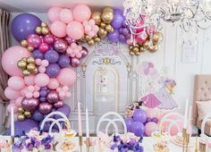 Sara A's Mother's Day / High tea - Photo Gallery at Catch My Party Girls Tea Party, Tea Party Birthday, 10th Birthday, Girl Birthday, Birthday Ideas, Balloon Tower, Balloon Garland, Balloon Decorations, Mothers Day Balloons