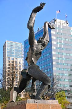 Rotterdam zadkine monument by Ossip Zadkine,1951