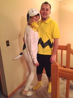 Charlie Brown and Snoopy couples Halloween costume
