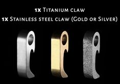 The Smallest Multi-tool - The CLAW hits a sweet spot by going above and beyond what is usually expected of small bottle openers. Small Bottles, Geek Stuff, Stainless Steel, Tools, Silver, Geek Things, Instruments, Money
