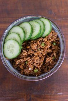 Recept Surinaamse Nasi, lijkt mij heerlijk.