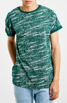 Topman Splatter Print Roller T-Shirt