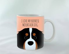 I Love my Bernese Mountain Dog Mug personalised Different - Tap the pin for the most adorable pawtastic fur baby apparel! You'll love the dog clothes and cat clothes! Entlebucher Mountain Dog, Bernese Mountain, Mountain Dogs, Dog Birthday Gift, Dog Toilet, Easiest Dogs To Train, Buy A Dog, Guide Dog, Dog Boarding