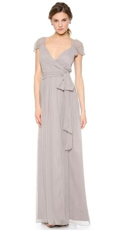 Joanna August Newbury Cap Sleeve Wrap Dress | SHOPBOP
