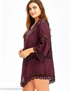8dfd4dd191f8b Women's Red Crochet Plus Size Cover Up, INstyle fashion Plus Size Cover Up,  Instyle