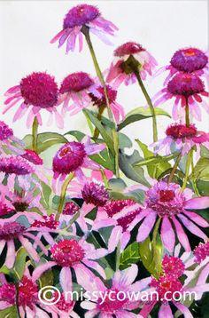 PINK LADIES -  Giclee Print of Original Watercolor Painting