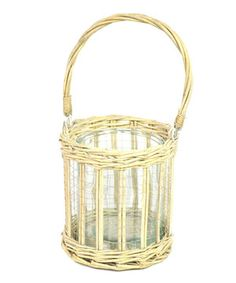 This Willow Basket Candleholder by Galt International is perfect! #zulilyfinds