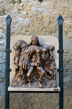 Nagyvázsony (Magyarország) - Kinizsi vár - Pál Kinizsi statue - 3