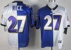 Nike Baltimore Ravens #27 Ray Rice Purple/White Two Tone Elite Jersey