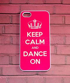 Iphone 5 Case, New iPhone 5 case Keep Calm and Dance On iphone 5 Cover, iPhone 5 Cases, Case for iPhone 5. $14.95, via Etsy.