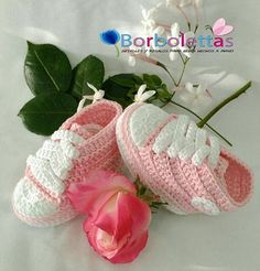 Baby Shoes, Newborn Shoes, Baby Sneakers, Babyshower, Converse, Crochet Shoes, Crochet Baby Booties, Light Pink, Gift, Allstar, Baby Gift