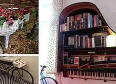 Creative Old Piano Repurposing Idea. Give your old piano a new life, and showcase your artwork to your friends. piano decor, home diy made, Vieux Pianos, Sweet Home, Old Pianos, Diy Home, Home Decor, Diy Casa, Home And Deco, Design Case, My Dream Home