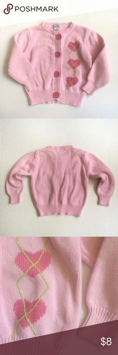 Pink cardigan sweater Pink cardigan sweater with pink hearts and a pale green embroidery. Hartstrings Dresses