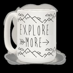Are you ready for the great outdoors? Would you rather be exploring the woods than at work? Remind me everyone with this Explore More coffee mug. Would you rather be in the mountains and hiking? Get ready to tell everyone about all your explorations around the world.   HUMAN