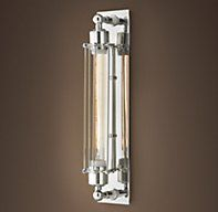 Grand Edison Caged Sconce Polished Nickel | Bath Sconces | Restoration Hardware