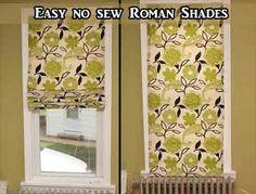 Easy no sew Roman Shades