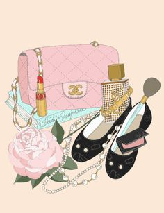 love this one too {chanel bag, my fave charlotte olympia kitty wedges, ysl rouge pur lipstick and cinema gold, cartier love bracelet, trish mcevoy blush, grandma's (chanel) pearls (and a peony from the bush she planted 40 years ago that still blooms), and a copy of pride and prejudice}