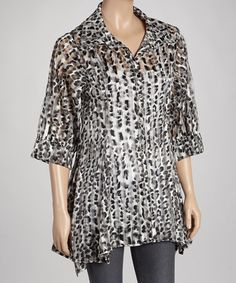 Take a look at this Gray Zebra Jacket by Come N See on #zulily today!
