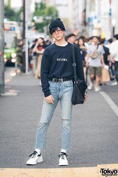 Harajuku Streetwear Look w  Beams Sweatshirt e759af685136