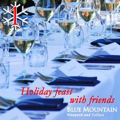 """To celebrate a great year we're toasting with a days of Christmas"""" giveaway! We will feature one Blue Mountain wine or gift for each of the next 12 days along with the perfect holiday occasion to enjoy them or ideas on who to share them with. Christmas Giveaways, 12 Days Of Christmas, Pinot Gris, December 1st, Blue Mountain, British Columbia, Free Shipping, Table Decorations, Bottle"""