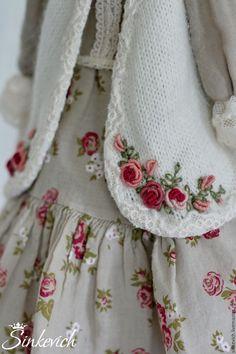 Купить Люсиль - тильда, кукла текстильная, кукла интерьерная, кукла ручной работы, для интерьера, для декора