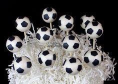 Soccer cake pops.