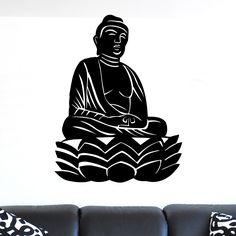 awesome Buddha Sitting Statue Wall Sticker
