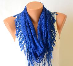 lace scarf,kobalt blue fashion lace scarf summer scarves bridesmaid gifts womens scarves. $12.00, via Etsy.