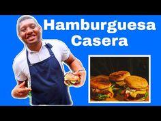 ¡Hamburguesa Casera a la Parrilla! #hamburguesa #carnederes #casera #parrilla #carne Meat, Chicken, Food, Grilling, Hamburgers, Easy Recipes, Homemade, Essen, Meals