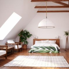 Attic bedroom just an optional choice. But it's a good choice if you want to maximize the entire of your home spaces. Through this attic bedroom Attic Bedroom Designs, Attic Bedrooms, Bedroom Layouts, Gray Bedroom, Trendy Bedroom, Kids Bedroom, Bedroom Ideas, Tiny Dining Rooms, Engineered Timber Flooring