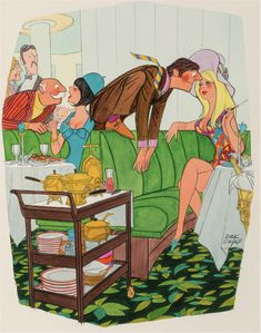 DINK SIEGEL - If you don't quit annoying me, I'll tell my husband. - item by fineart.ha Pin Up Art, Playboy, Husband, Cartoons, Painting, Fictional Characters, Cartoon, Cartoon Movies, Painting Art