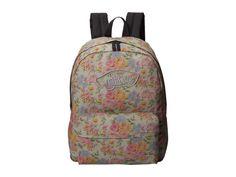 Vans Realm Suede Floral Marshmallow Backpack School Bag 1f841c3da2
