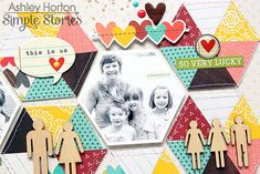 We Are Family layout from design team member Ashley Horton