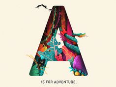 A Is For Adventure designed by Nick Staab. Connect with them on Dribbble; the global community for designers and creative professionals. Japanese Typography, Typography Poster, Graphic Design Posters, Graphic Design Typography, Type Posters, Typography Inspiration, Graphic Design Inspiration, Name Design Art, Game Character Design