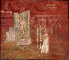 interior de una casa de Pompeya