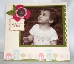 Old Look Scrapbooking Layout   Scrapbook Page Layout {Welcome Neighbor DSP & Sweet Pea Stitched ...