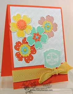 Stampin' Up! stamp set Flower Shop & Pansy Punch, Artisan label punch, In Color Boutique Details