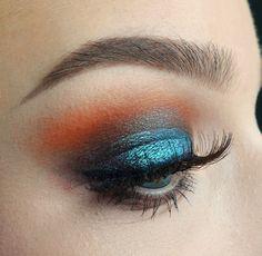 Colourful Dramatic Eye Makeup