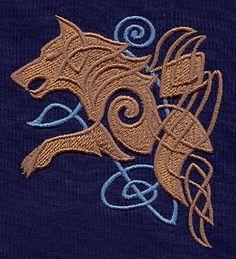 Motif broderie Loups Celtiques                                                                                                                                                      Plus