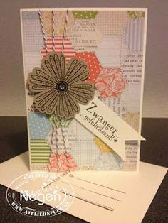 Stampin' Up! Mixed Bunch stamp set and Blossom punch...By Atelier Negen