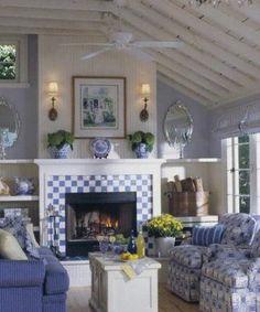 Hydrangea Hill Cottage--Blue/white theme