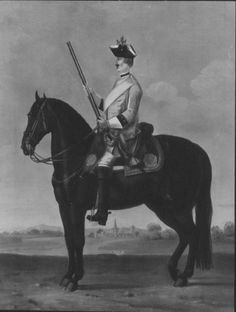 "David Morier (1705?-70) Private, Regiment of Horse 2A ""Montigny""  c. 1749  Oil on canvas 